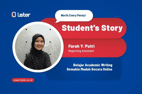 Student's Story: Belajar Academic Writing Lebih Mudah Secara Online