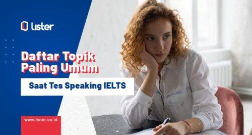 daftar topik ielts speaking